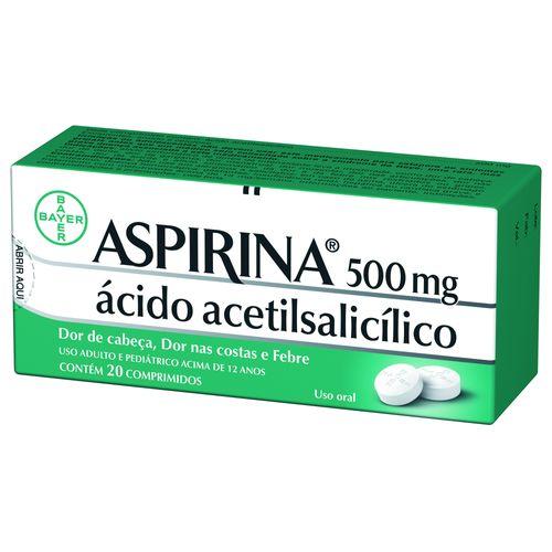 Aspirina 500mg 20 Comprimdos