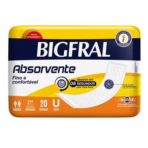 Absorvente Geriátrico Bigfral Com 20 Unidades