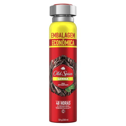 Desodorante Spray Antitranspirante Old Spice Lenha 124g