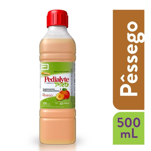Pedialyte Pro Pêssego 500ml