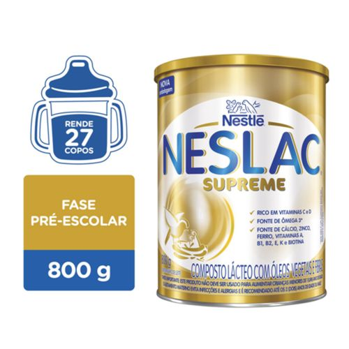 Composto Lácteo Neslac Supreme 800g