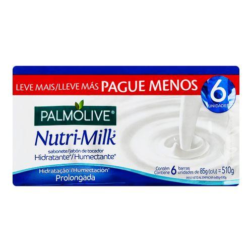 Sabonete Em Barra Hidratante Palmolive Nutrimilk 85g Promo Leve 6 Pague 5