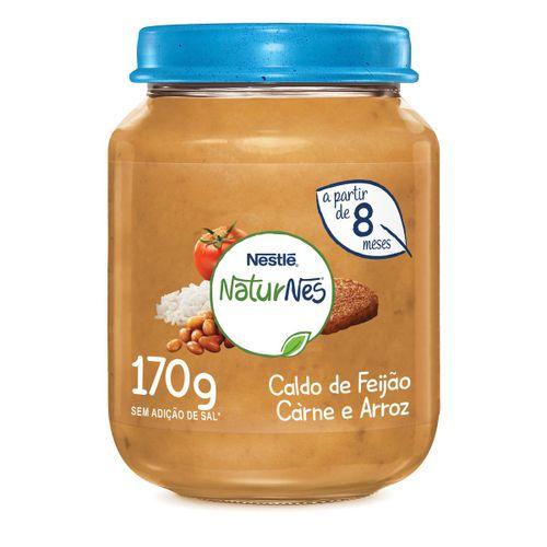 Papinha Nestlé Caldo De Feijão, Carne E Arroz 170g
