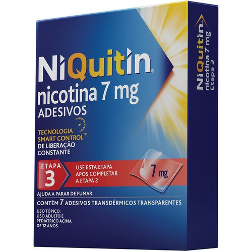 Niquitin 7mg Com 7 Adesivos Transparentes