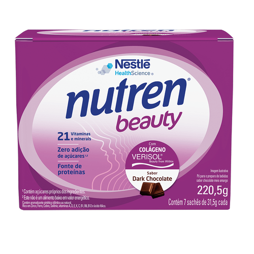Suplemento Alimentar NUTREN BEAUTY Dark Chocolate Display 7x31,5g
