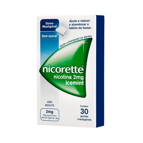 Goma Mastigável Nicorette Icemint 2mg 30 Unidades