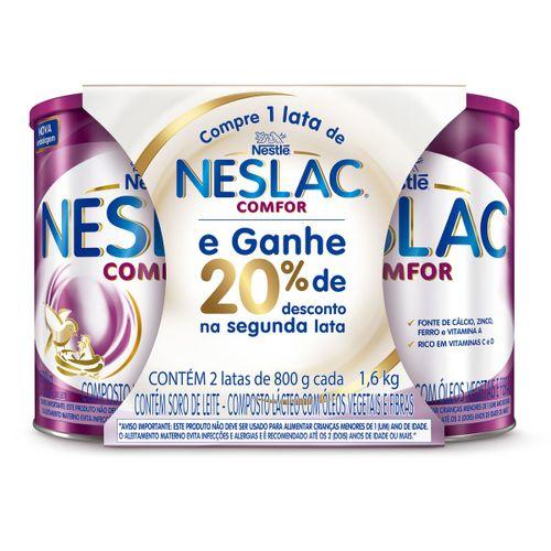 Neslac Comfor 800g 20% De Desconto Na 2 Unidade