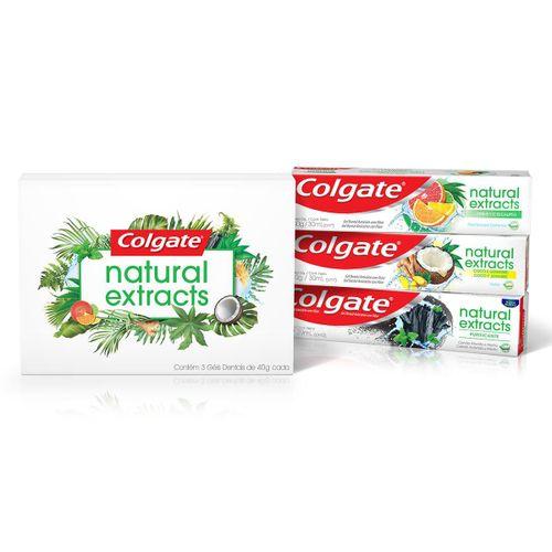Creme Dental Colgate Natural Extracts Pack Com 3 Unidades De 40g Cada