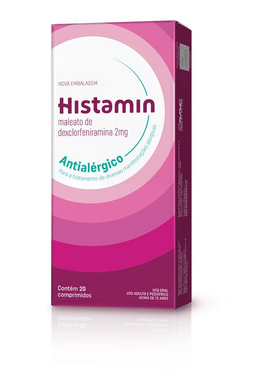 Histamin 2mg Com 20 Comprimidos