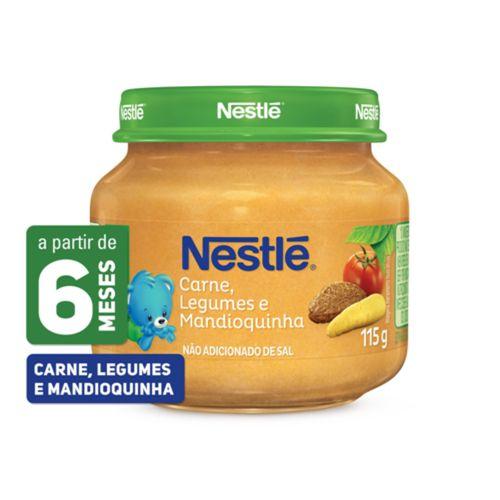 Papinha Nestlé Carne, Legumes E Mandioquinha 115g