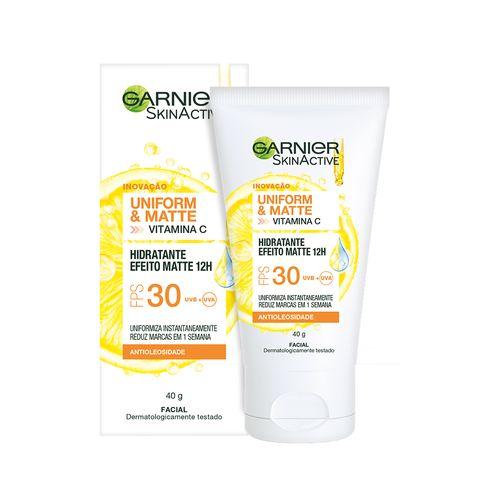 Hidratante Facial Efeito Matte FPS30 Garnier Uniform&Matte 40g