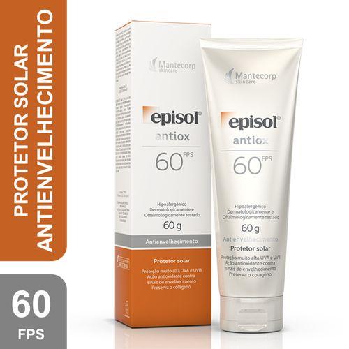Episol Antiox Protetor Solar Facial Antienvelhecimento Fps60 60g