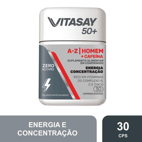 Vitasay 50+ A-Z Homem+cafeina Com 30 Comprimidos