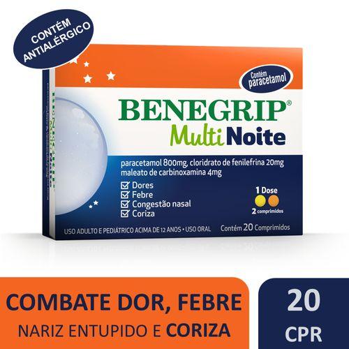 Benegrip Multi Noite Caixa 20 comprimidos contra gripe e resfriado