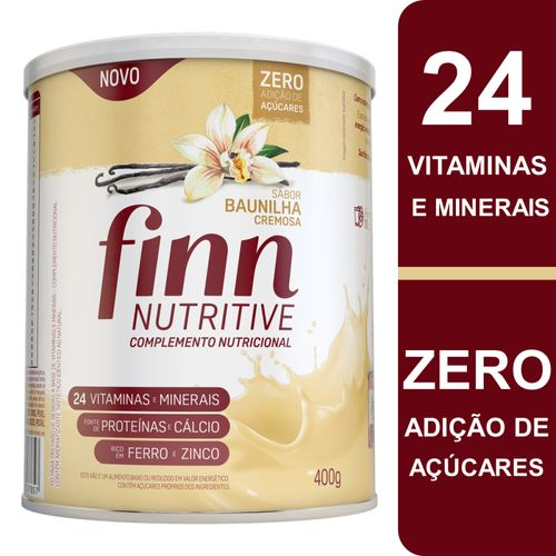 Complemento Alimentar Finn Nutritive Sabor Baunilha Cremosa Lata 400g