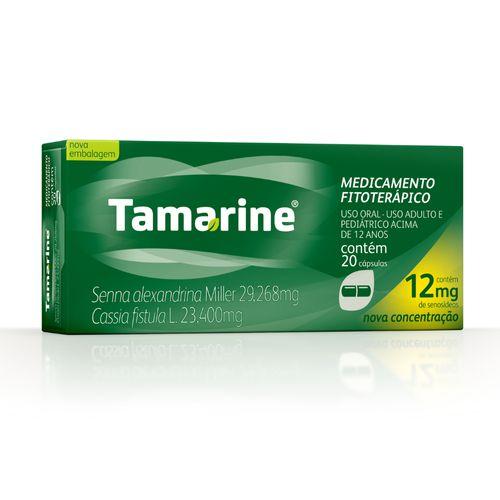 Tamarine 12mg Caixa 20 Cápsulas Laxante Fitoterápico