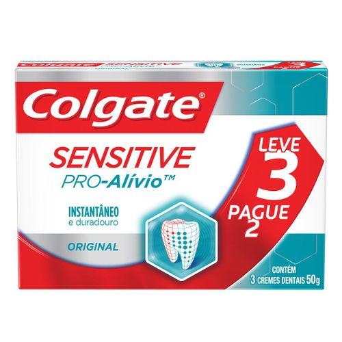 Creme Dental Colgate Sensitive Pro-Alívio Original 50g Leve 3 Pague 2