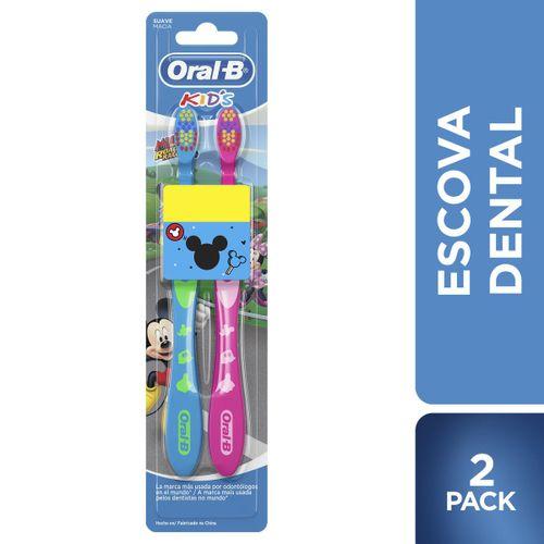 Escova Dental Oral B Mickey/Minnie Com 2 Preço Especial