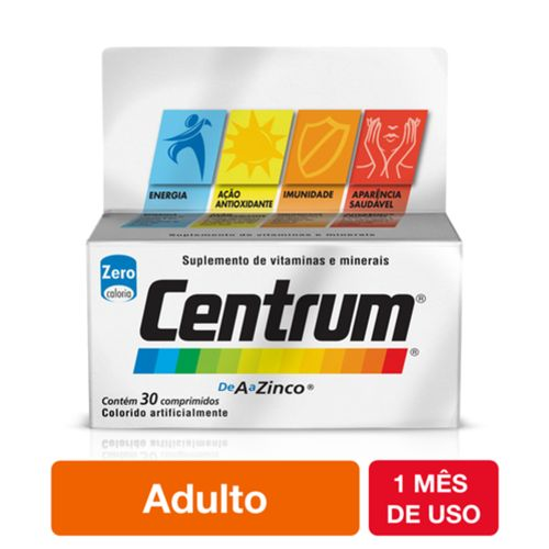Centrum Completo De A A Zinco Com 30 Comprimidos