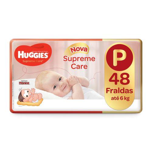 Fralda Huggies Supreme Care Mega Tamanho P Com 48 Unidades