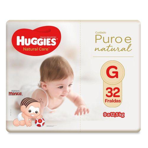 Fralda Huggies Natural Care Mega Tamanho G Com 32 Unidades
