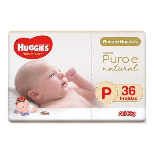 Fralda Huggies Natural Care Mega Tamanho P Com 36 Unidades