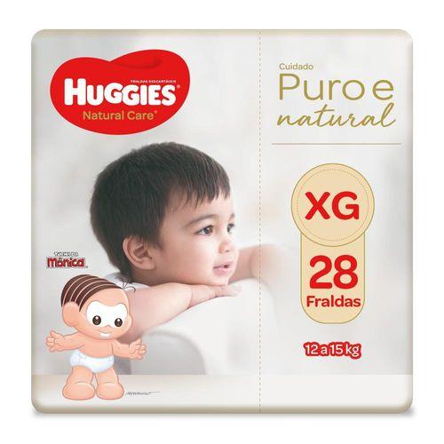 Fralda Huggies Natural Care Mega Tamanho Xg Com 28 Unidades