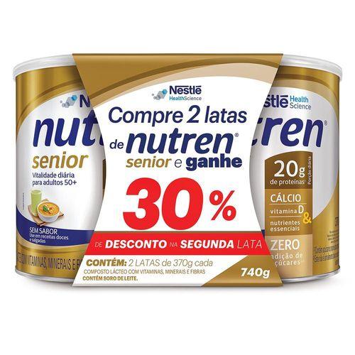 Nutren Senior Sem Sabor 30%de Desconto Na 2 Unidade 370g Cada