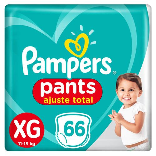 Fralda Pampers Pants Ajuste Total Giga Tamanho Xg Com 66 Unidades