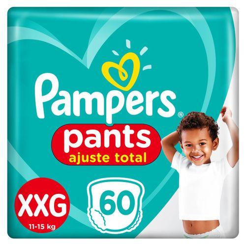 Fralda Pampers Pants Ajuste Total Giga Tamanho Xxg Com 60 Unidades