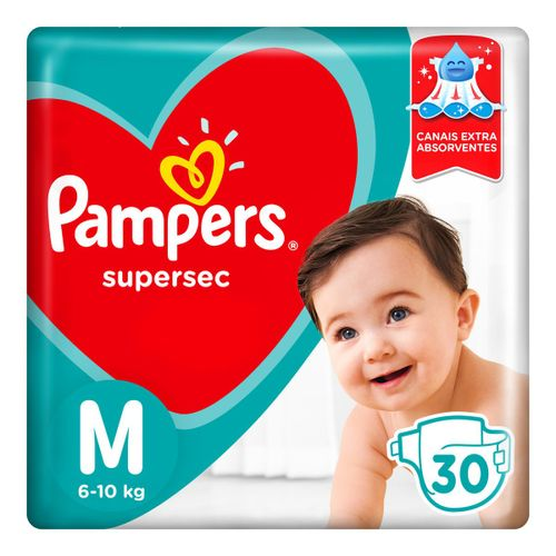 Fraldas Pampers Supersec M 30 Unidades
