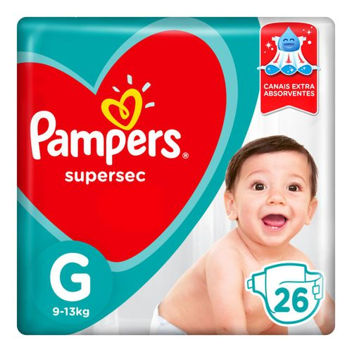 Fraldas Pampers Supersec G 26 Unidades