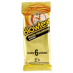 Preservativo Blowtex Retardante Com 6 Unidades