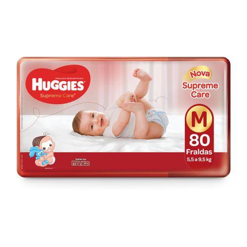 Fralda Huggies Supreme Care Hiper Tamanho M Com 80 Unidades