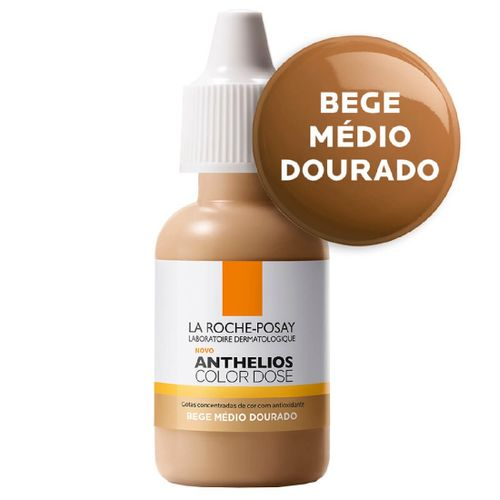 Pigmento Facial La Roche-Posay Anthelios Color Dose Médio Dourado 17ml