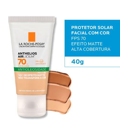 Anthelios Airlicium Protetor Solar Fps70 Pele Clara 40g