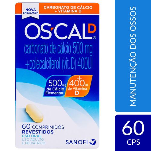 Os-Cal D 500mg + 400 Ui 60 Comprimidos Revestidos