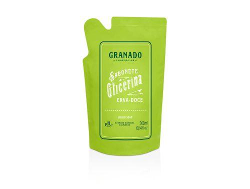 Sabonete Líquido Granado Glicerina Erva Doce Refil 300ml