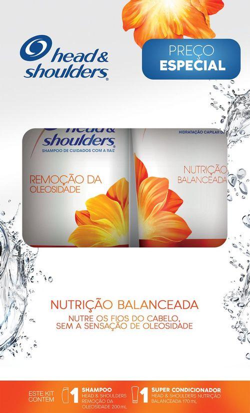 Shampoo Cuidados com a Raiz Head & Shoulders Remoção da Oleosidade 200ml + Super Condicionador Nutrição Balanceada 170ml