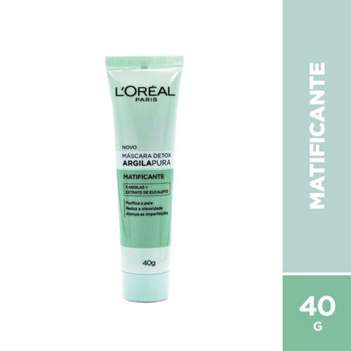 Máscara Facial L'oréal Paris Argila Pura Detox  Esfoliante