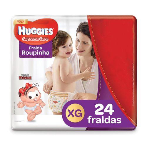 Fralda Turma Da Mônica Huggies Supreme Care Mega Roupinha Tamanho  Xg Com 24 Unidades