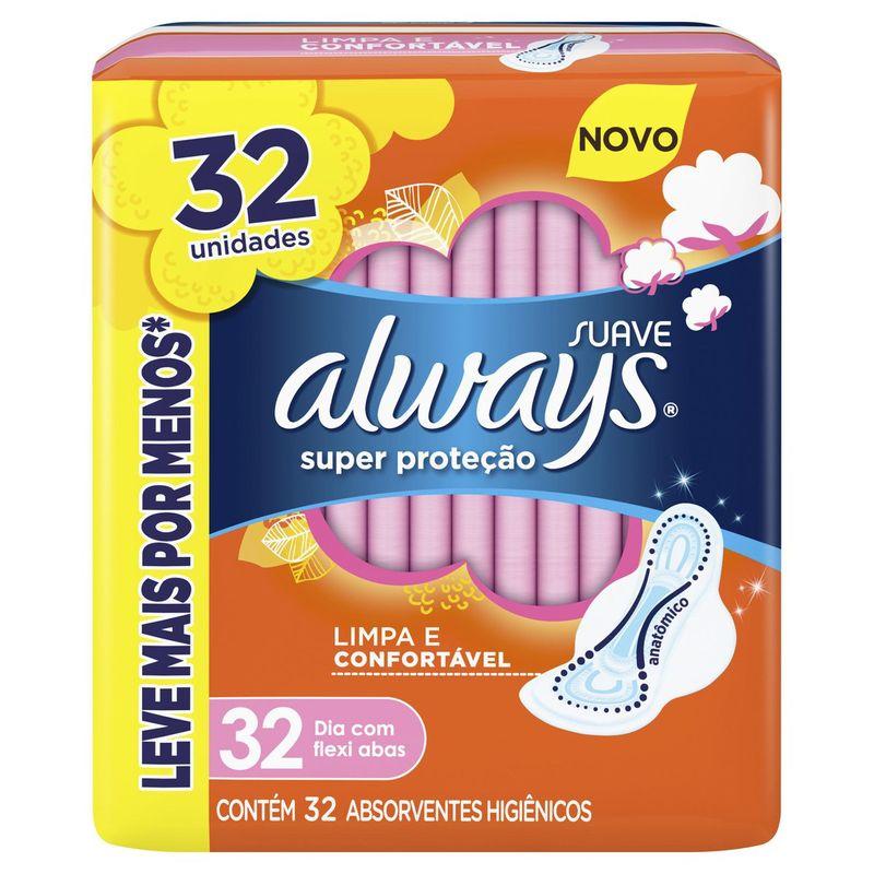 47b3328d4542da13354327468667d430_always-absorvente-always-super-protecao-suave-com-abas-32-unidades_lett_1