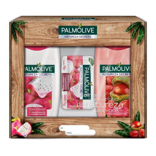 Kit Sabonete Palmolive Natureza Secreta  Pitaya/Ucuuba 250ml Com 2 Unidades + Sabonete Palmolive Natureza Secreta Pitaya/Ucuuba 90g