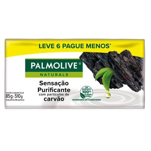 Sabonete Palmolive Naturals Sensação Purificante  85g Com 6 Unidades