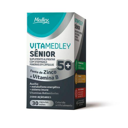 Vitamedley Senior 50+ Com 30 Cápsulas