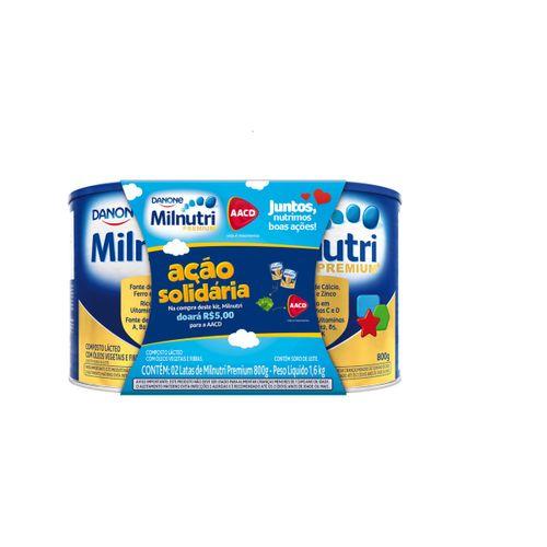 Kit Milnutri Premium 800g Com 2 Latas Pack Solidario