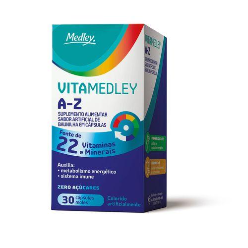 Vitamedley A-Z Com 30 Cápsulas