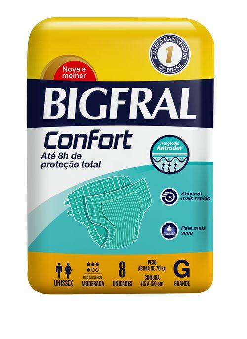 Fralda Geriátrica Bigfral Confort Tamanho G Com 8 Unidades