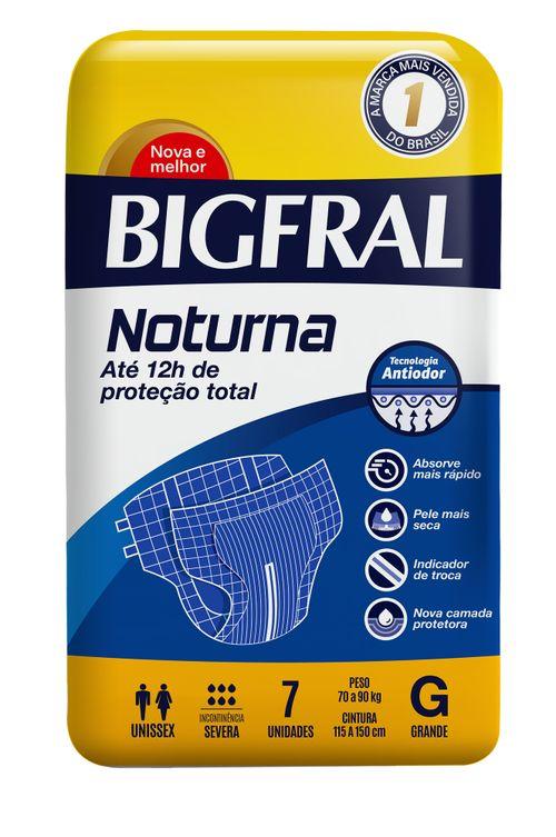 Fralda Geriátricas Bigfral Noturna Tamanho G Com 7 Unidades