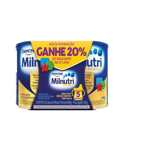 Milnutri 800g 20% Desconto Na 2° Unidade